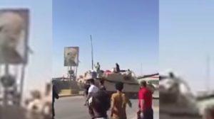 Irak Ordusu, Kerkük'te Barzani tabelalarını tanklarla yıkıyor
