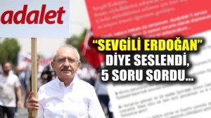"""CHP lideri Kılıçdaroğlu, twitter'dan Cumhurbaşkanına böyle seslendi: """"Sevgili Erdoğan…"""
