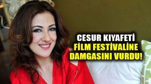 Meltem Cumbul'un kıyafeti Antalya Film Festivaline damgasını vrudu