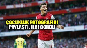 Mesut Özil'in çocukluk fotoğrafı sosyal medyada ilgi gördü