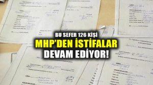 Kayseri'nin Sarız ilçesinde MHP'den 126 kişi istifa etti