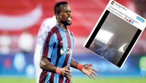 Trabzonsporlu Onazi'den kolbastılı paylaşım