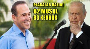 MHP'li belediye başkanı Kerkük ve Musul için plaka hazırladı!