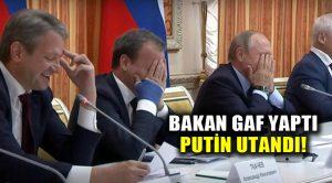 """Bakanın """"domuz eti"""" gafı Putin'i zor durumda bıraktı!"""