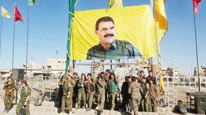 YPG Rakka'da Öcalan posterleri açtı!