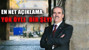 """İstifası istenen Bursa Belediye Başkanı Recep Altepe çok net: """"Yok öyle bir şey!"""""""