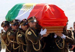 Eski Irak Cumhurbaşkanı Talabani'nin cenazesi törenle toprağa verildi