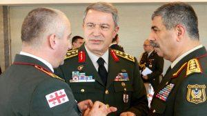 Tiflis'te Türkiye-Azerbaycan-Gürcistan Genelkurmay Başkanlarında üçlü toplantı