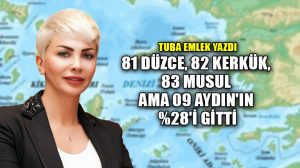 81 Düzce, 82 Kerkük, 83 Musul ama 09 Aydın'ın %28'i gitti