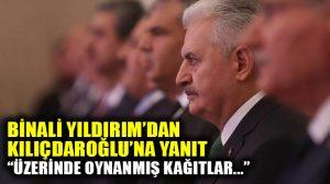 Binali Yıldırım'dan Kılıçdaroğlu'na belge yanıtı