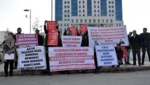 TMO'da işten çıkartılan taşeron işçilerinden eylem