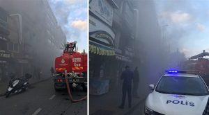 Beşiktaş'taki 6 katlı binada yangın!