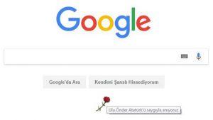 Google 10 Kasım'ı unuttu