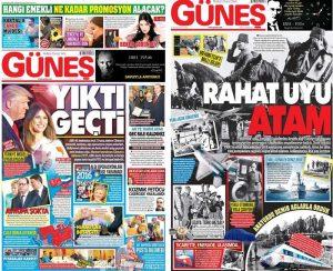 AKP'nin Atatürk sevgisi gazete manşetlerine de yansıdı