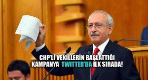 CHP milletvekillerinin Twıtter'da açtığı başlığa büyük destek: #KılıçdaroğluYineHaklıÇıktı