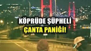 Köprüde şüpheli paket alarmı: Çift yönlü trafiğe kapatıldı