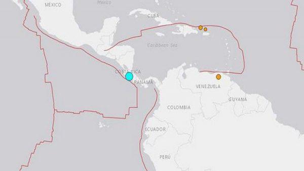 Sabaha karşı Kosta Rika'da deprem