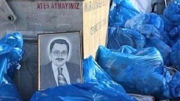 Gökçek'e bu da yapıldı: Portresi belediye çöplüğünde