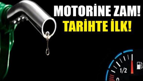 Bir zam da motorine, motorin tarihinde ilk defa 5 TL'yi geçiyor!
