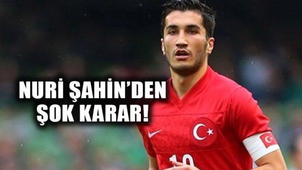 Nuri Şahin, Türkiye Futbol Milli Takımı'nı bıraktığını açıkladı!