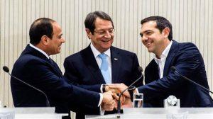 Yunanistan, Güney Kıbrıs Rum Yönetimi ve Mısır'dan 3'lü doğalgaz zirvesi