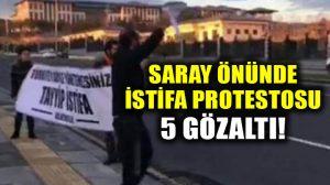 Cumhurbaşkanlığı önünde belge protestosuna polis müdahalesi: 5 gözaltı
