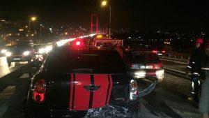 Boğaz Köprüsünde zincirleme kaza: Yaralılar var…