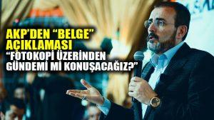 """AKP Sözcüsü Ünal'dan """"belge"""" açıklaması"""