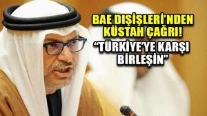 BAE Dışişleri'nden küstah çağrı: Türkiye'ye karşı birleşin…