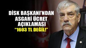 DİSK Başkanı Kani Beko'dan asgari ücret açıklaması: AGİ hariç asgari ücret 1,451 liradır