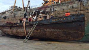 106 yıllık Kartal İstimbotu'nda restorasyon başladı