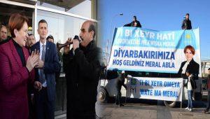 Meral Akşener, Diyarbakır'da 3 dilli pankartlar ile karşılandı