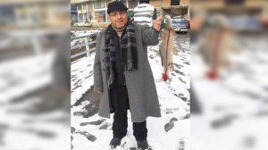 Amatör balıkçının oltasına 40 kiloluk yayın balığı takıldı