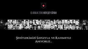 Beşiktaş Kulübü'nden 10 Aralık 2016 her şey siyah paylaşımı