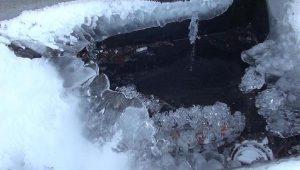 Ardahan'da buz kesti
