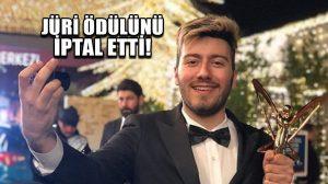 Altın Kelebek'te En İyi YouTuber ödülünü alan Enes Batur'un ödülü iptal edildi