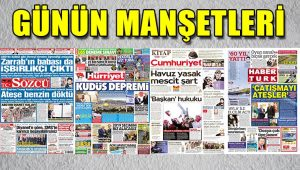 7 Aralık Perşembe gazete manşetleri