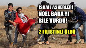 İsrail askerleri Noel Baba kıyafeti giyen filistinli bir genci vurdu!