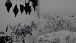 Kapadokya, kar altında güzel