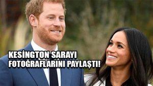 Kensington Sarayı Prens Harry ve oyuncu Meghan Markle nişan fotoğraflarını paylaştı