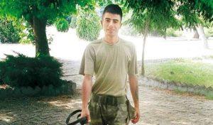 Başına miğferle vurarak öldürdüğü askerin uyuşturucu kullandığını iddia etti!