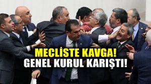 Mecliste kavga çıktı! Genel Kurulda AKP-CHP milletvekilleri birbirine girdi!