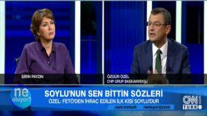 """Özgür Özel'den """"FETÖ'den ihraç edilen ilk kişi Süleyman Soylu'dur"""" iddiası!"""