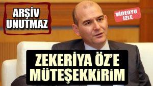 Süleyman Soylu'dan Zekeriya Öz'e övgü dolu sözler