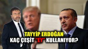 """Ahmet Hakan, Tayip Erdoğan'ın kaç çeşit """"Ey"""" ifadesini kullandığını yazdı"""