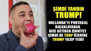 Antalya'da muhtarlar Trump'ı Turp yiyerek protesto etti! Protesto yaratıcılığında zirvelerdeyiz!