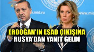 """Rusya'dan Erdoğan'ın Esad için """"terörist"""" açıklamasına yanıt geldi!"""