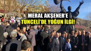 Tunceli'de Meral Akşener yoğun ilgiyle karşılandı!