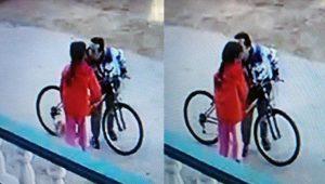 8 yaşındaki kız çocuğunu öpen bisikletli tacizci yakalandı