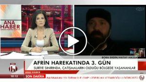 Erdin: Afrin'de akşam saatlerinde yoğun çatışma başladı